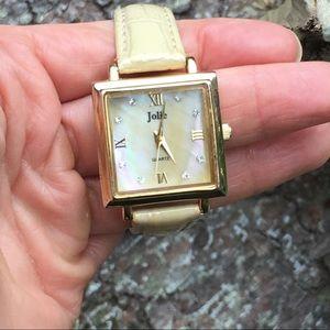 Jolie Cream/Gold/MOP Women's Watch